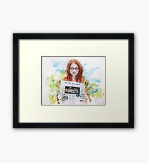Doctor Who: Pond in the park Framed Print