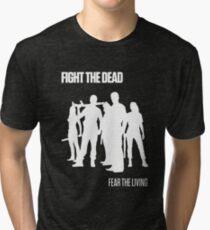 Fight the Dead T-Shirt [White Stencil] Tri-blend T-Shirt
