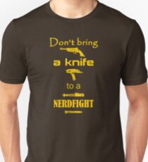 Don't Bring a Knife to a Nerdfight T-Shirt