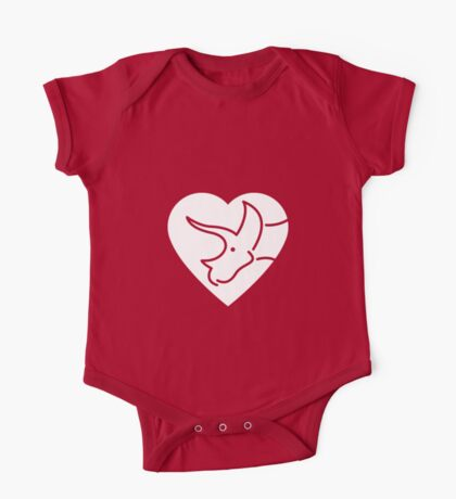 Dinosaur heart: Triceratops Kids Clothes