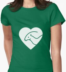 Dinosaur heart: Parasaurolophus Women's Fitted T-Shirt