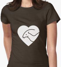 Dinosaur heart: Parasaurolophus Womens Fitted T-Shirt
