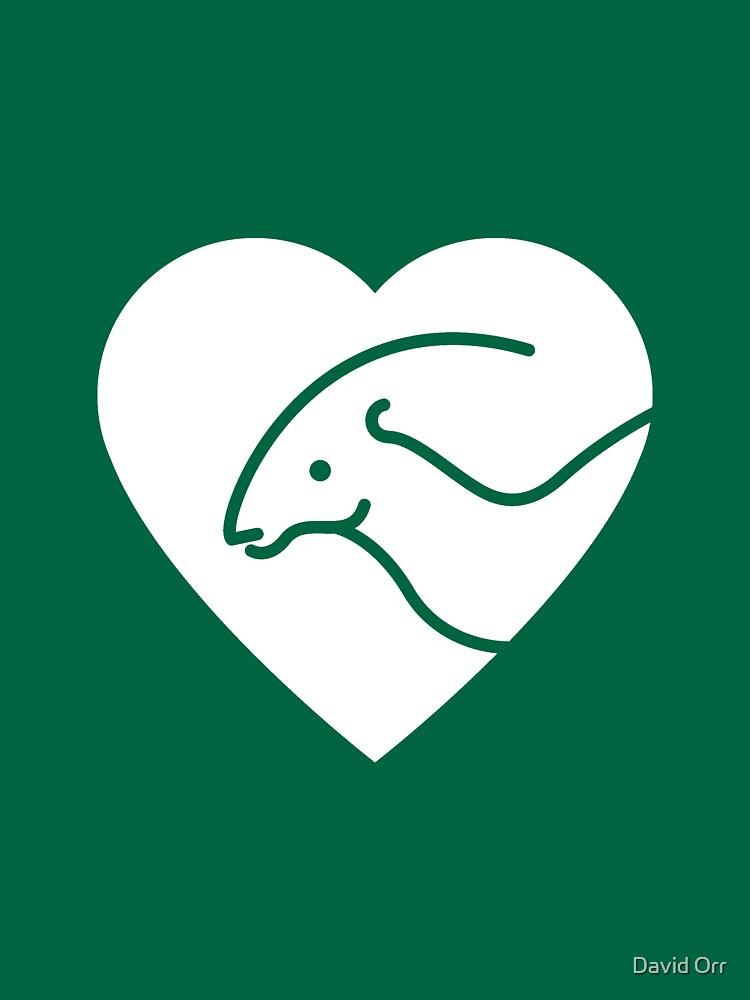 Dinosaur heart: Parasaurolophus by anatotitan