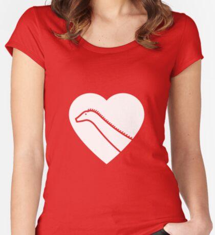 Dinosaur heart: Diplodocus Women's Fitted Scoop T-Shirt