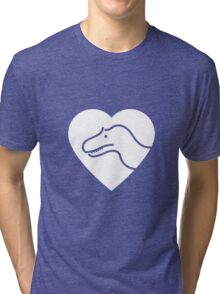 Dinosaur heart: Torvosaurus Tri-blend T-Shirt