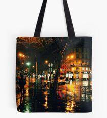 Rainy Night in Paris Tote Bag