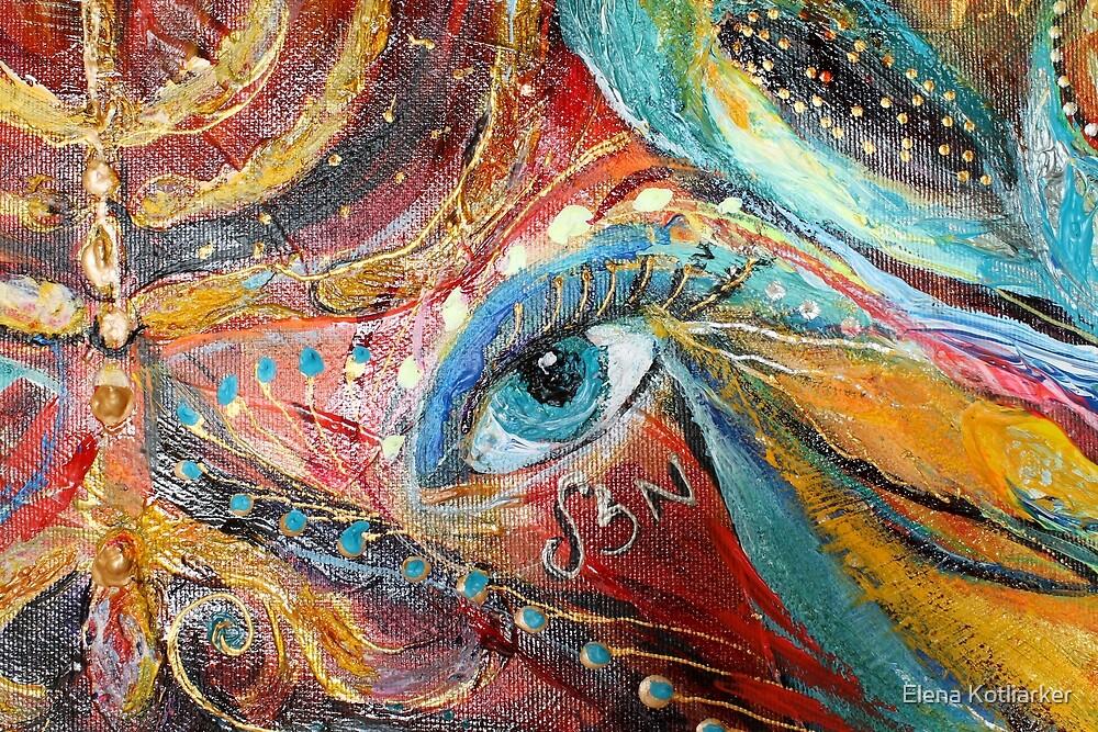 Original painting fragment 04 by Elena Kotliarker
