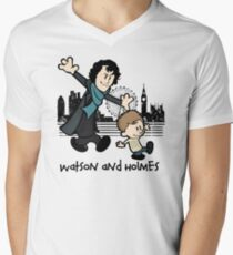 Watson and Holmes  Men's V-Neck T-Shirt