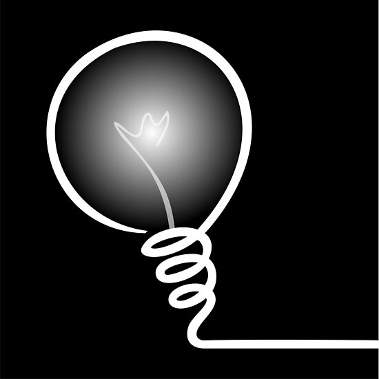 Concept of IDEA with Light bulb by punith