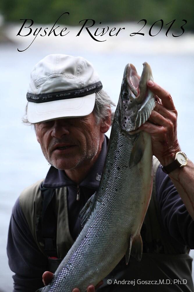 Wonderful salmon from Byske River . Greetings and all the best Andrzej Goszcz. by © Andrzej Goszcz,M.D. Ph.D