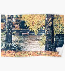 Kayak in Autumn Poster