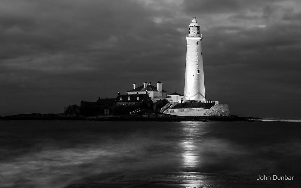 St Mary's Lighthouse at Dusk by John Dunbar