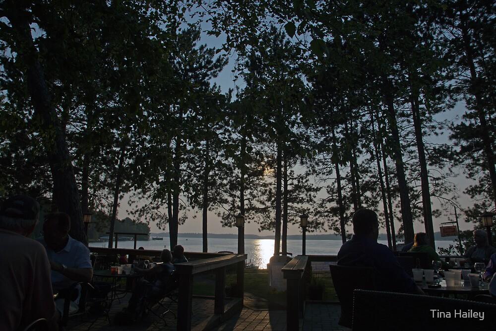Sunset Shining Thru The Trees by Tina Hailey