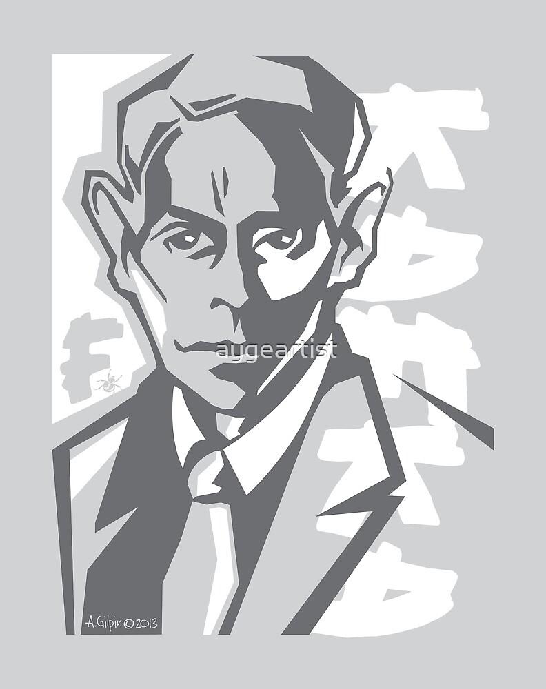 Kafka portrait in Greys by aygeartist