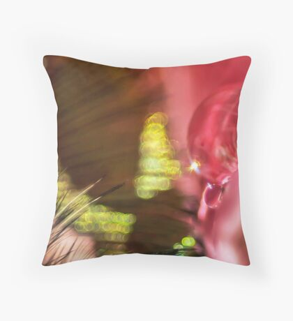 Explosion on the Rose Bush Throw Pillow
