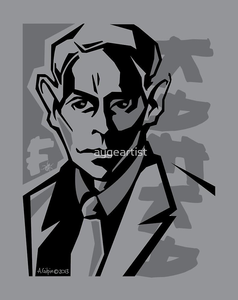 Kafka portrait in Black & Dark Greys by aygeartist