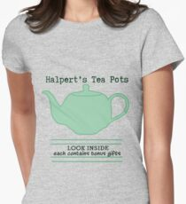Halpert's Tea Pots Womens Fitted T-Shirt