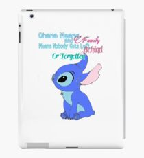 Ohana means family  iPad Case/Skin
