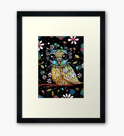 The Peridot Owl Framed Print