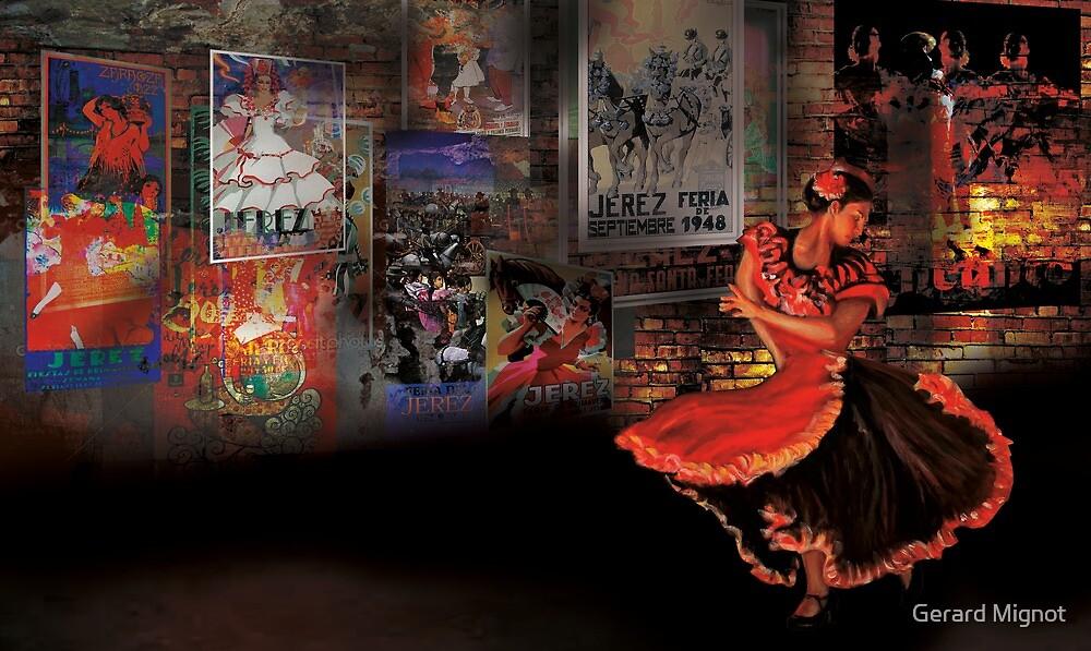Flamenco dancer by Gerard Mignot