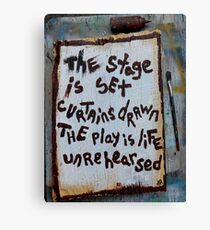 unrehearsed Canvas Print