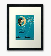 DEAR OLD DIXIE MOON  (vintage illustration) Framed Print