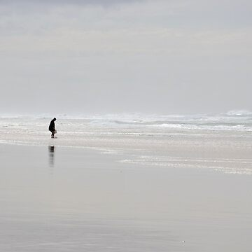 One Man and Winter Sea by clarecam