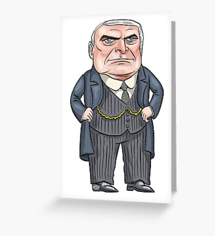 President Warren G. Harding | By Graeme MacKay Greeting Card