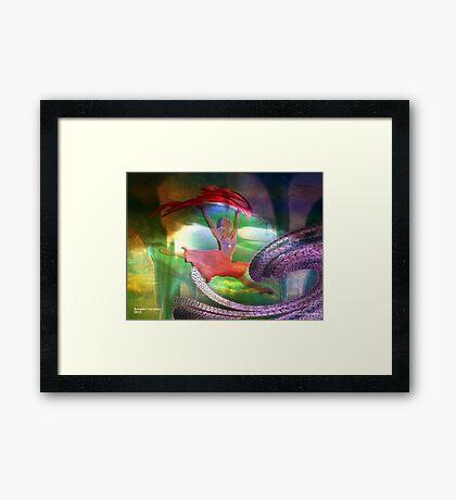 Neptune's dancing goddess Framed Print