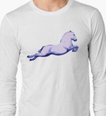 Lipanzanna Stallion in Capriole Blue Long Sleeve T-Shirt