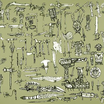 Weapons and Armor by Azabt