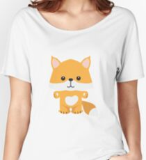 Little Woodland Fox Women's Relaxed Fit T-Shirt