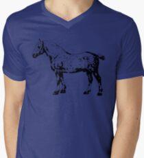 Percheron Stallion Black Men's V-Neck T-Shirt