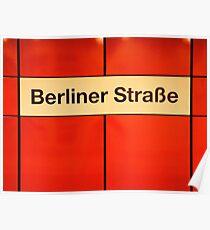 Berliner Straße Poster