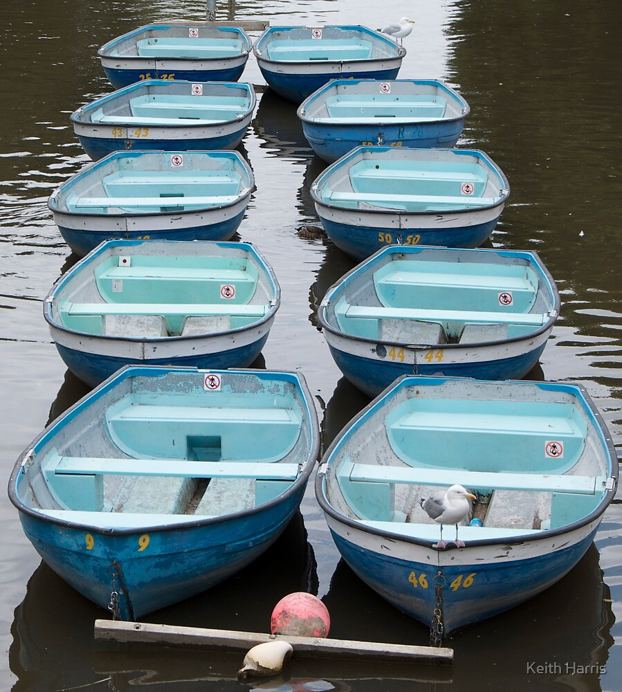 Blue Boats by Keith Harris