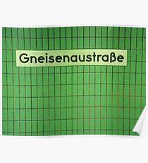 Gneisenaustraße Poster