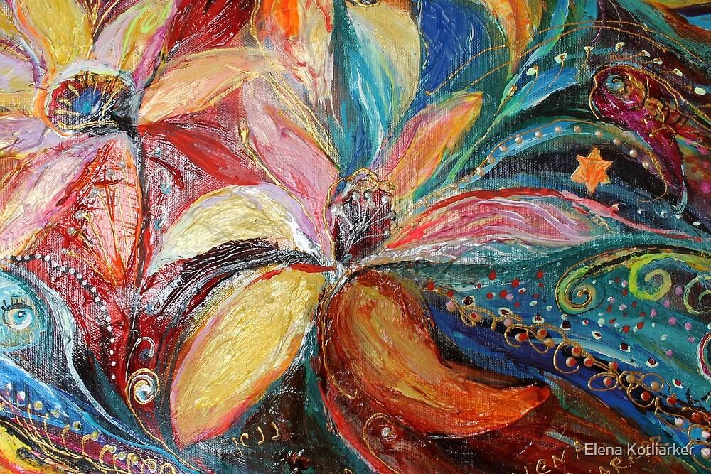 Original painting fragment 05 by Elena Kotliarker