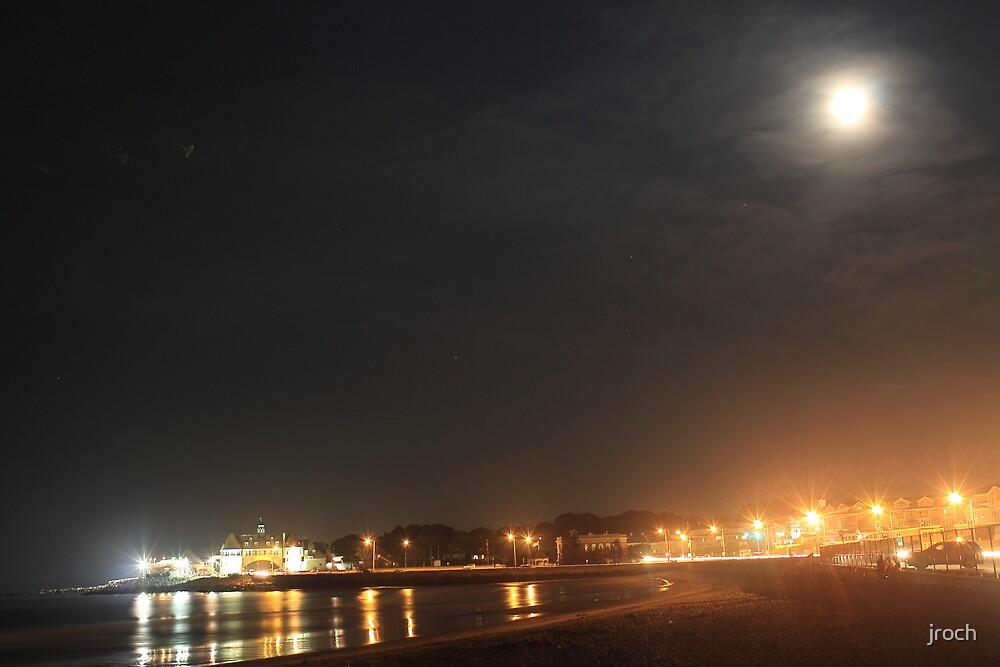 Midnight Moonlight...'Gansett Town Beach by jroch