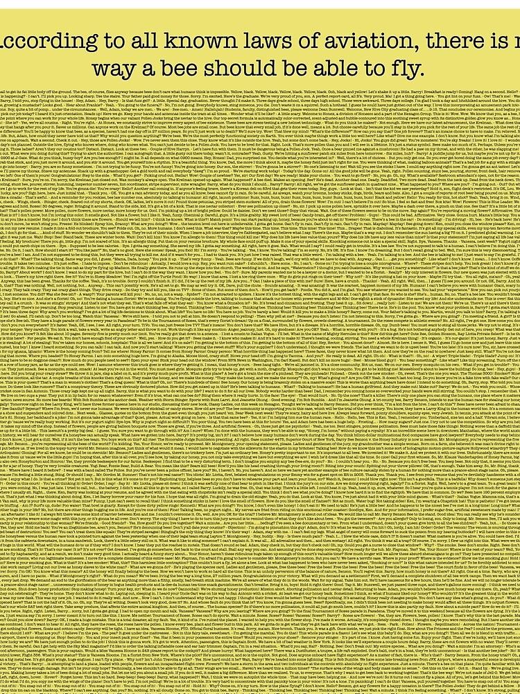 Das ganze Bienen-Film-Skript von mega-megantron