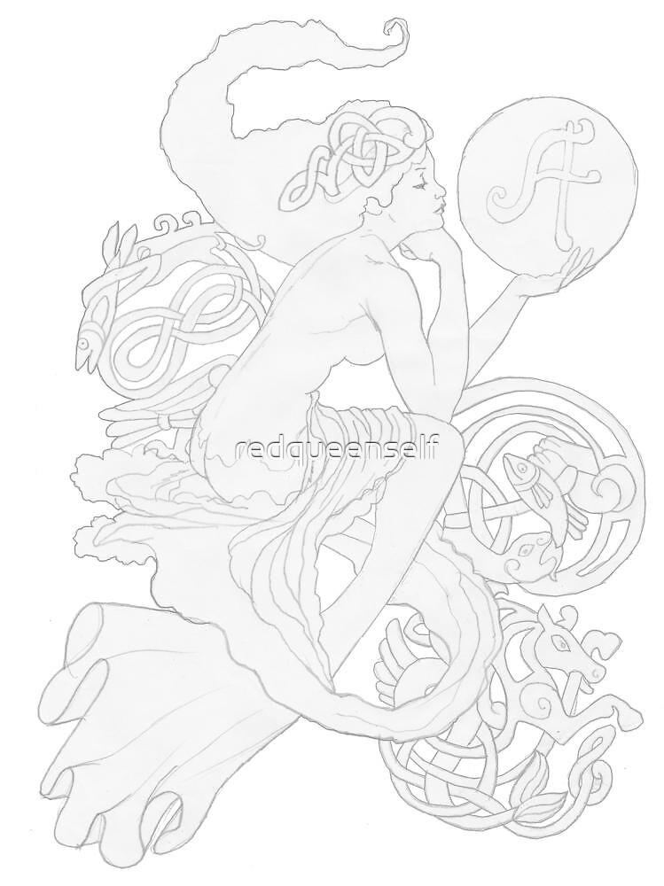 """""""A"""" mermaid by redqueenself"""