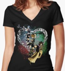 The Keyblade Masters Women's Fitted V-Neck T-Shirt