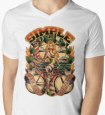 Simple Fixed Gear 01 Men's V-Neck T-Shirt