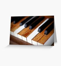 old piano Greeting Card