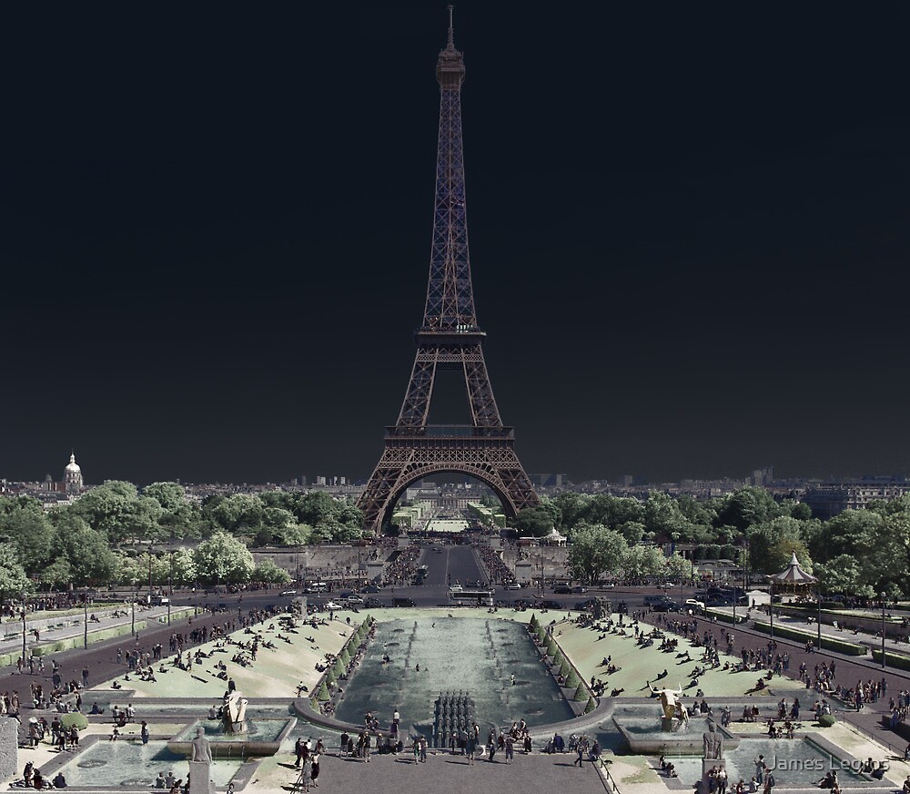 Eiffel Tower from Champ de Mars by James Legros