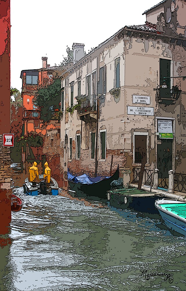 Rainy Day in Venice by MariarosaR