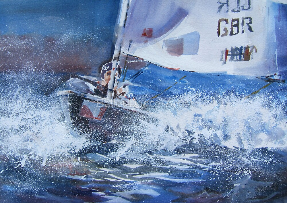 Sailing Boat Painting – Art Gallery 25 by Ballet Dance-Artist
