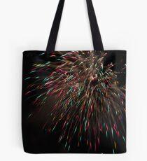 Firework - rain Tote bag