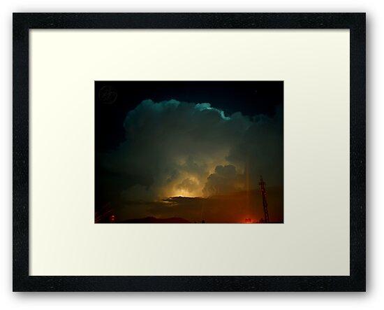 ©HCS Cumulonimbus Precipitatus At Night II by OmarHernandez