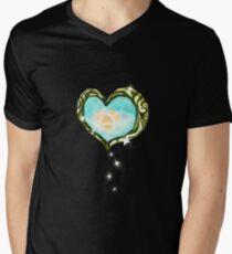 Heart Container Mens V-Neck T-Shirt
