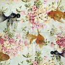 Goldfish wall paper by Vin  Zzep